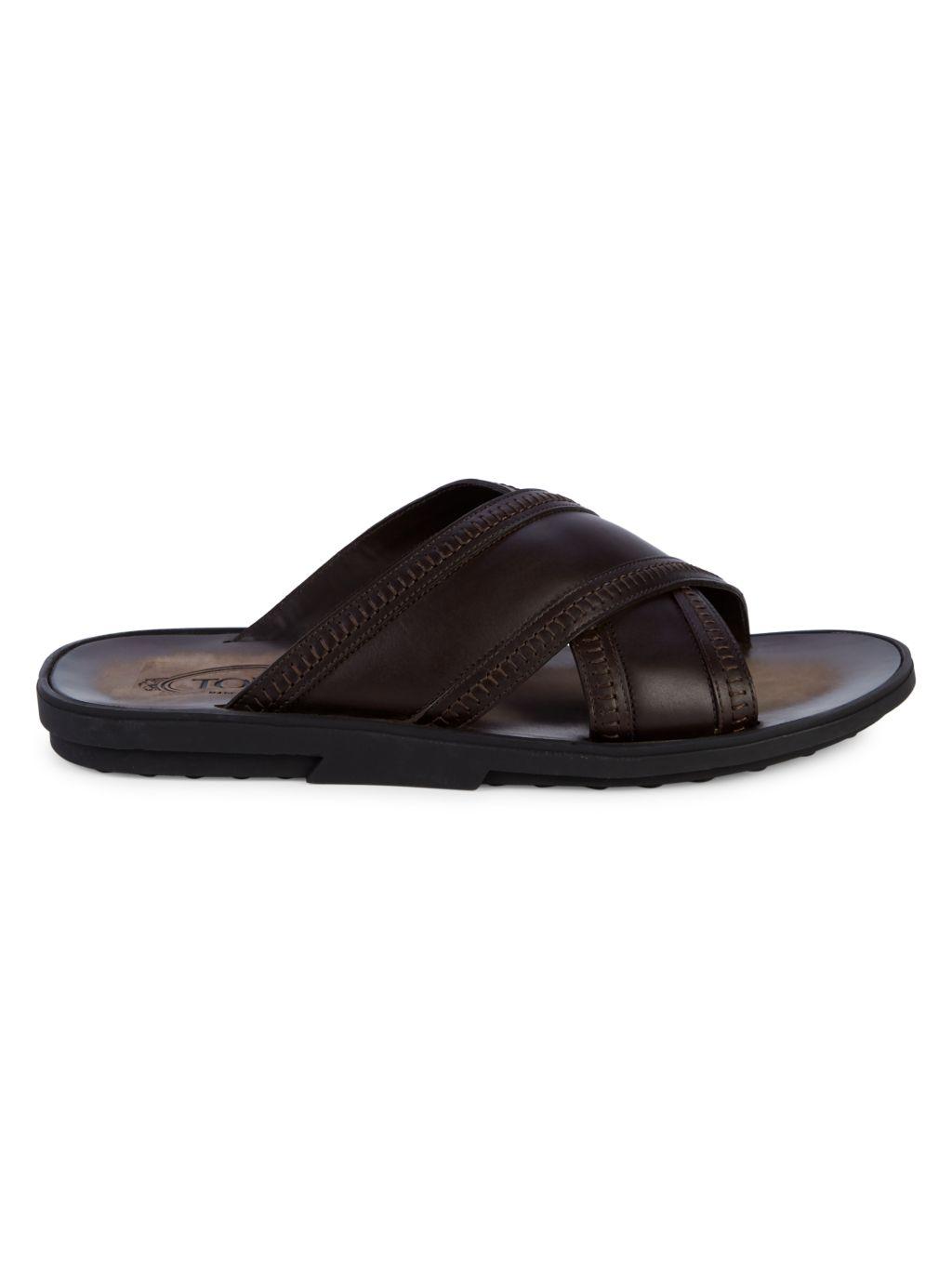 Tod's Ciabatta Leather Slides