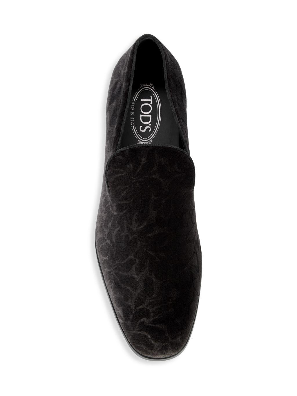 Tod's Velvet Loafers