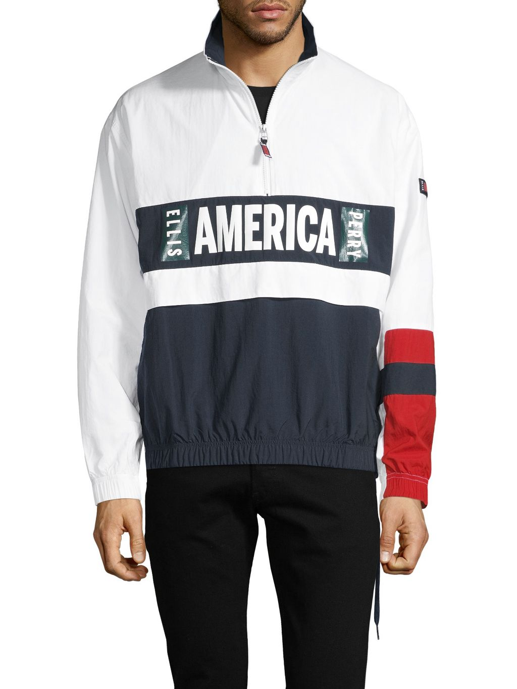 Perry Ellis America Graphic Colorblock Jacket