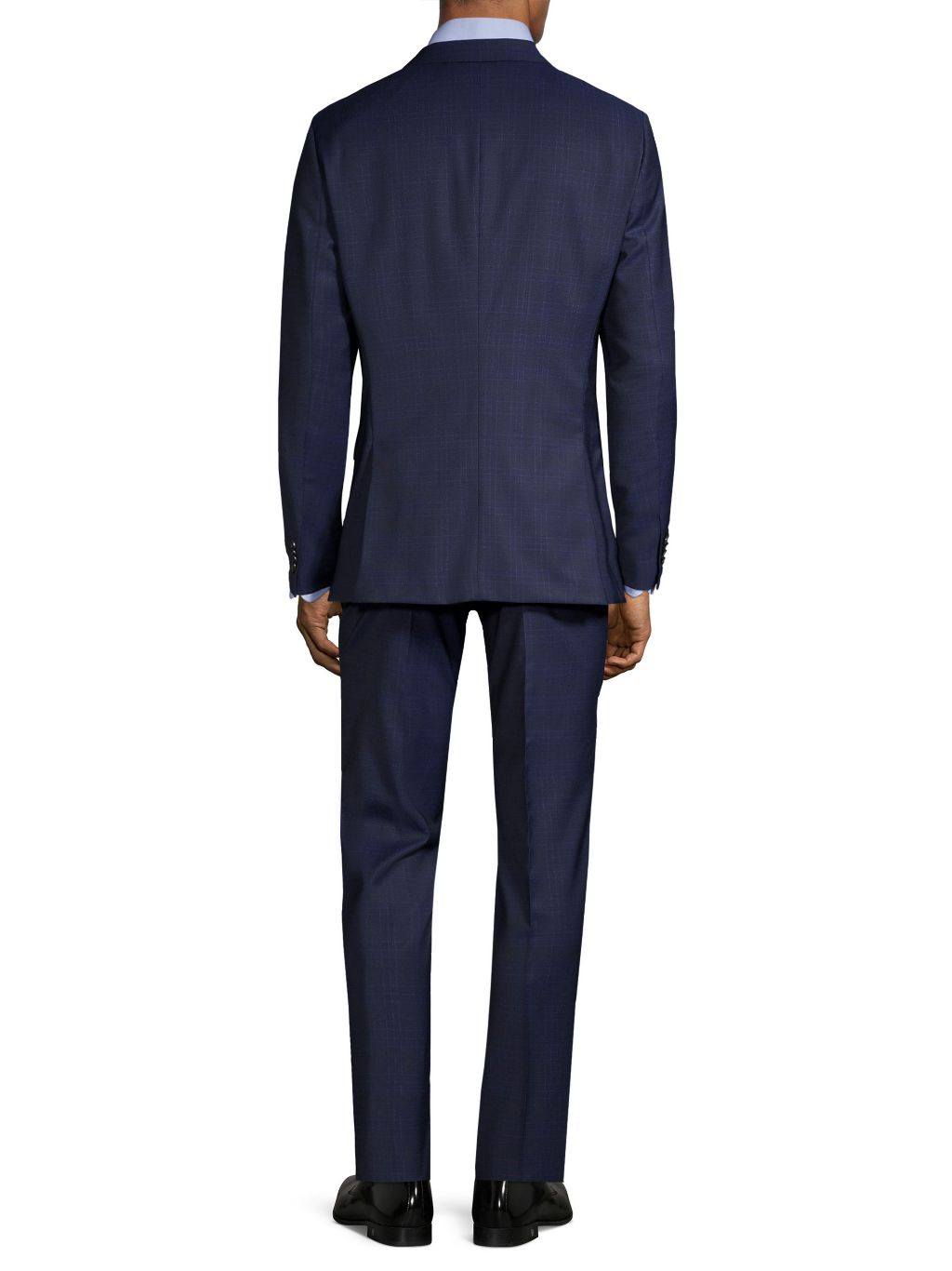 Boss Hugo Boss Slim-Fit Lanifico Tesse Biella Plaid Wool Suit