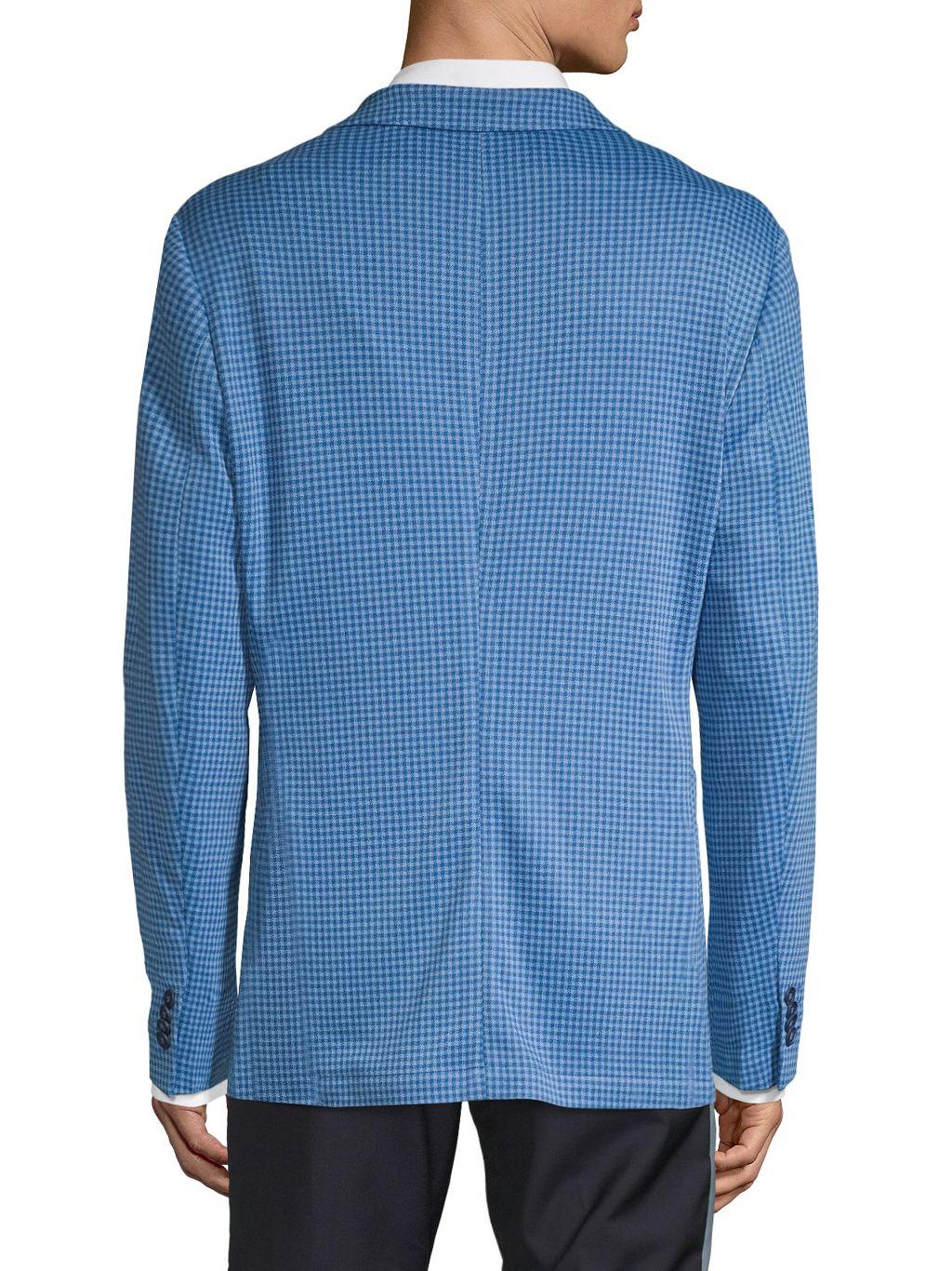 TailorByrd Standard-Fit Mini Check Knit Sportcoat