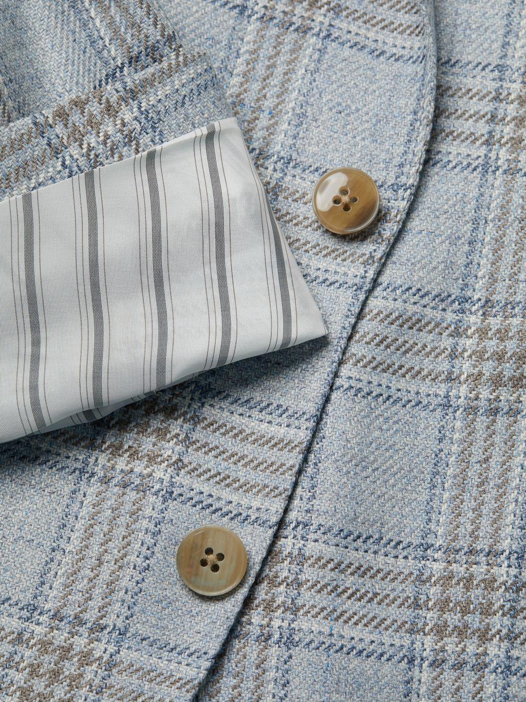 Lubiam Standard-Fit Wool-Blend Plaid Jacket