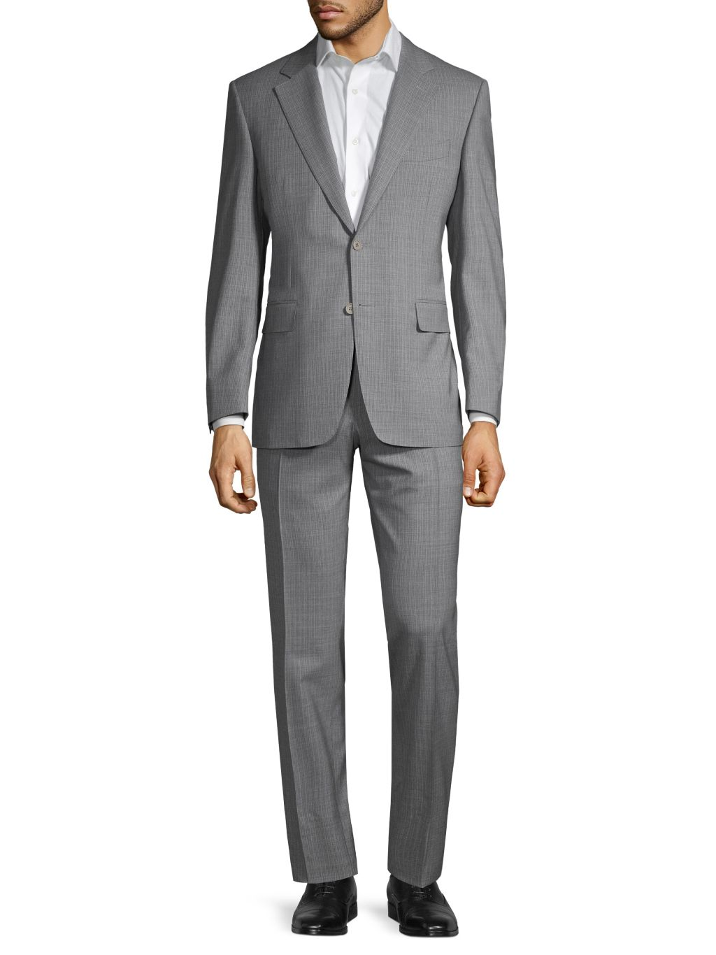 Canali Standard-Fit Check Wool Suit