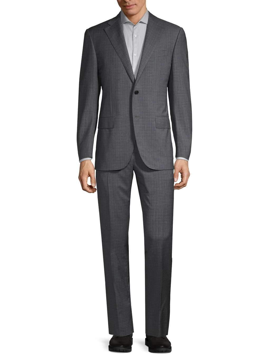 Corneliani Leader Standard-Fit Check Virgin Wool Suit