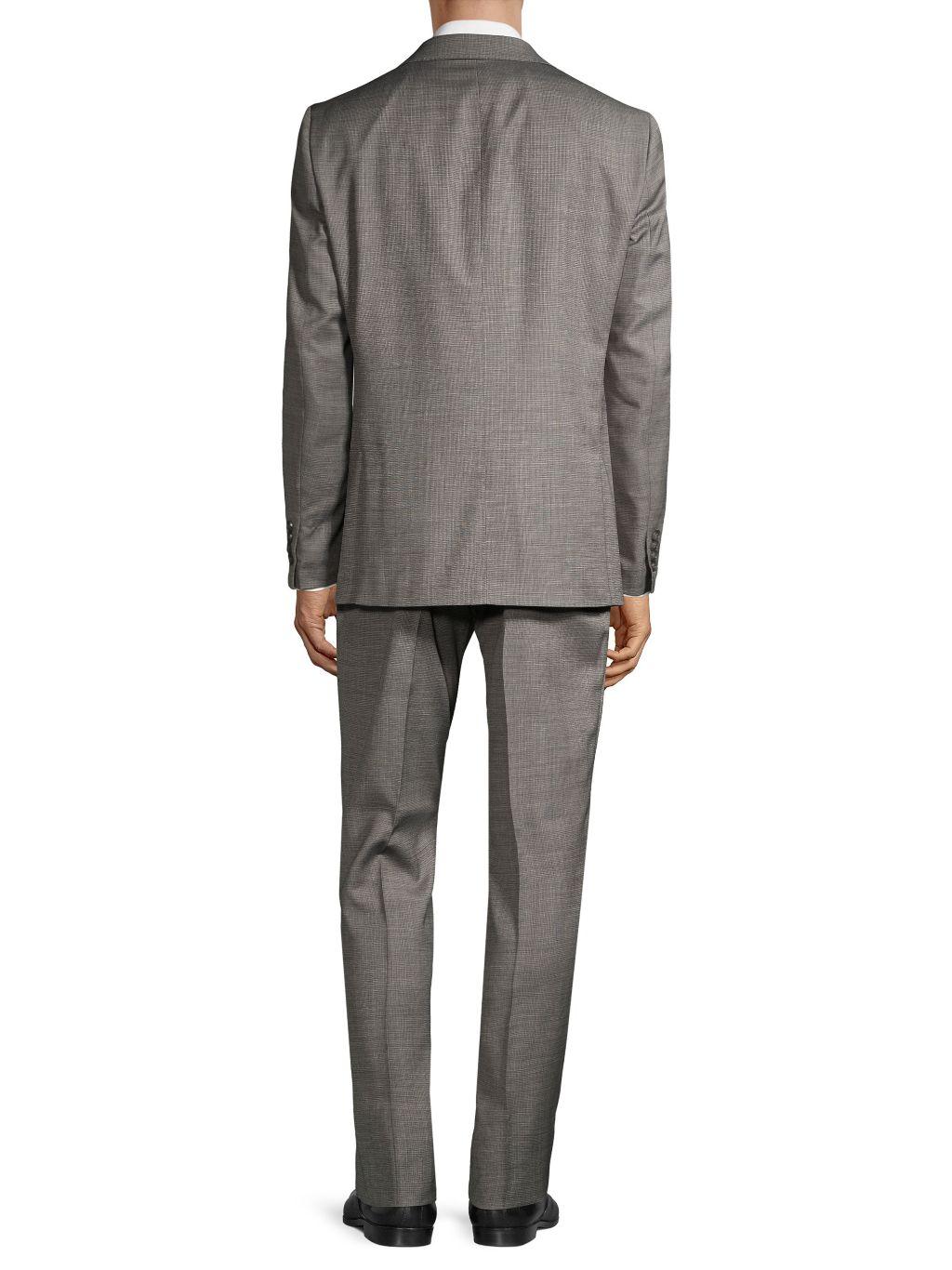 Calvin Klein Slim-Fit Check Wool-Blend Suit