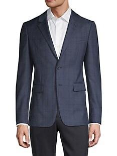 띠어리 Theory Standard-Fit Windowpane Wool-Blend Jacket,NAVY