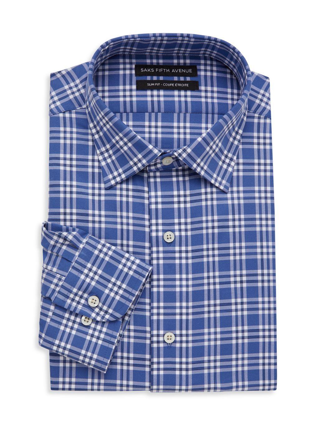 Saks Fifth Avenue Slim-Fit Plaid Dress Shirt