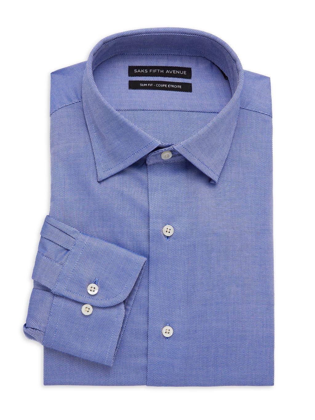 Saks Fifth Avenue Slim-Fit Patterned Dress Shirt