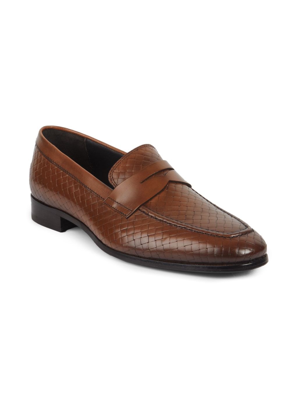 To Boot New York Dante Woven Leather Loafers