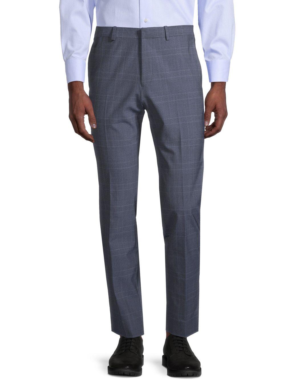 Theory Hudson Jake W-Fit Plaid Trousers