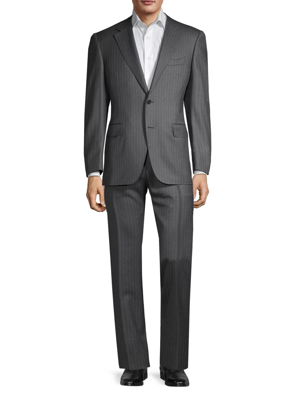 Canali Standard-Fit Pinstripe Wool Suit