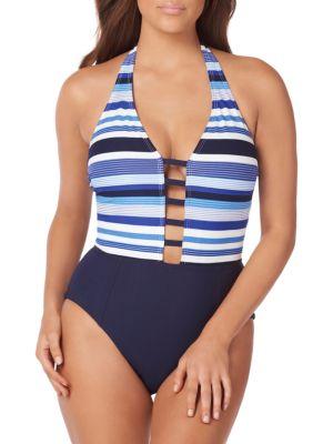 Amoressa By Miraclesuit Mykonos Gaea 1-piece Swimsuit In Mykonos Blue