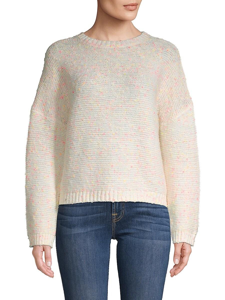 Women's Neon Slub-Yarn Sweater