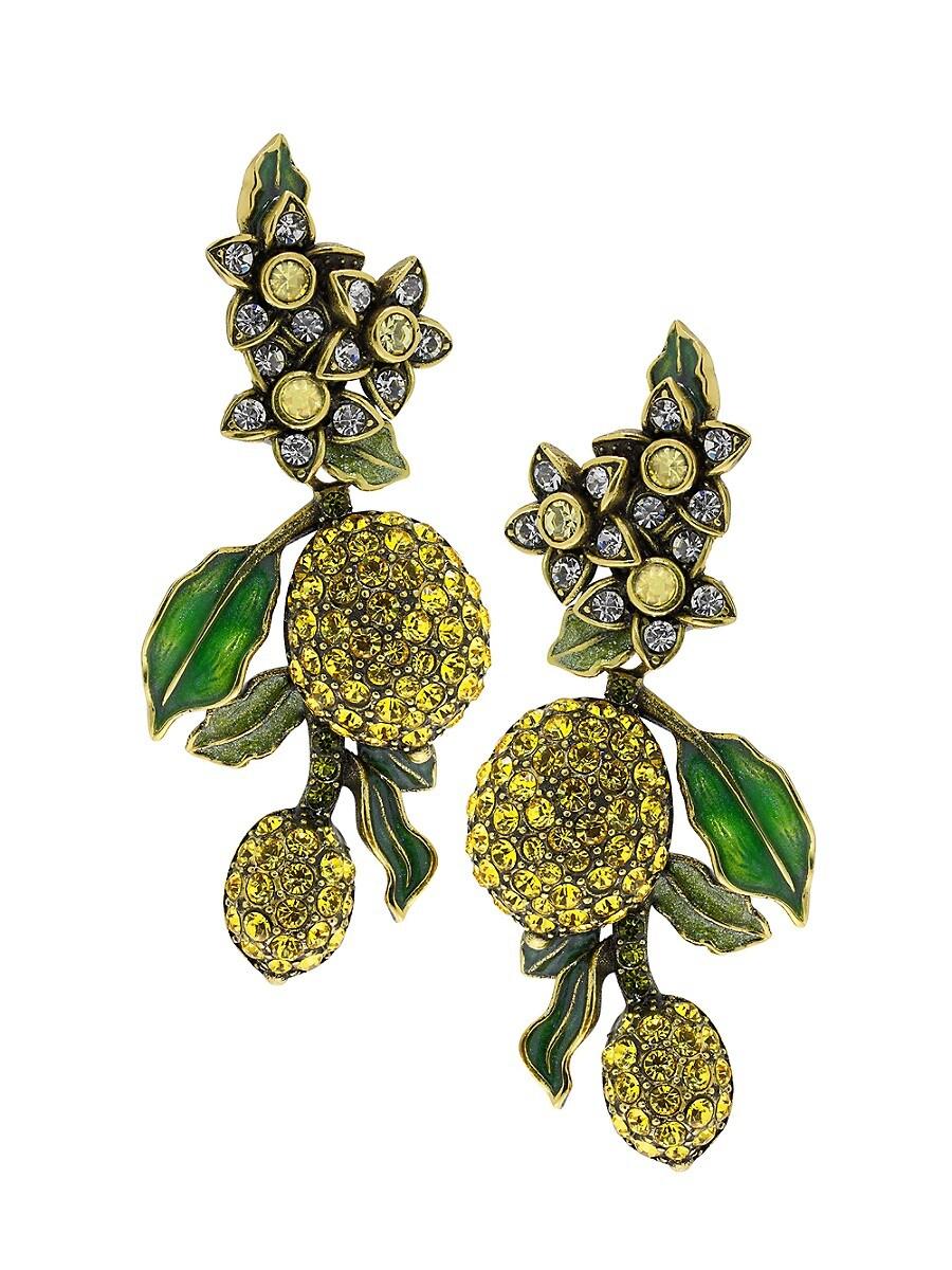 Women's A Lot of Lemons Crystal Drop Earrings