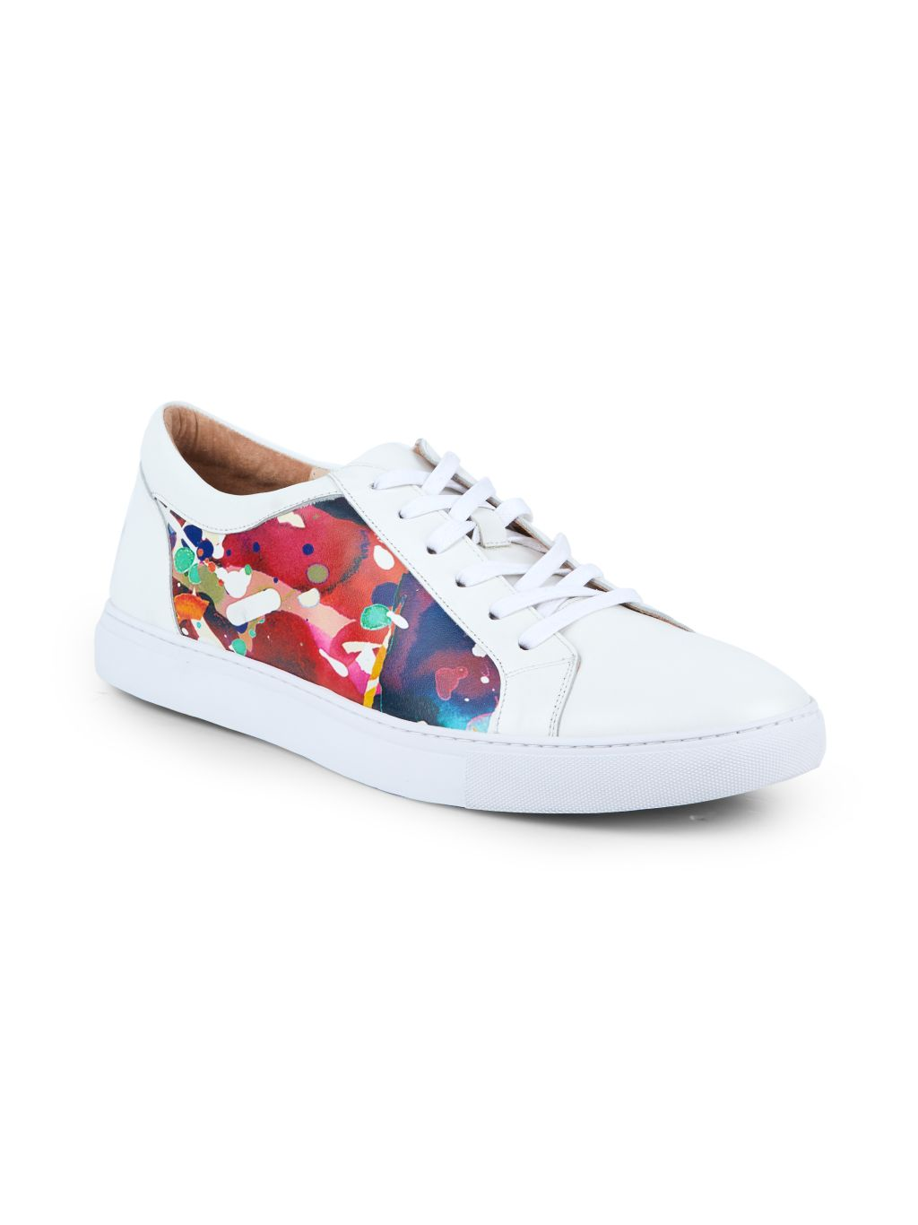 Robert Graham Ignition Printed Leather Sneakers