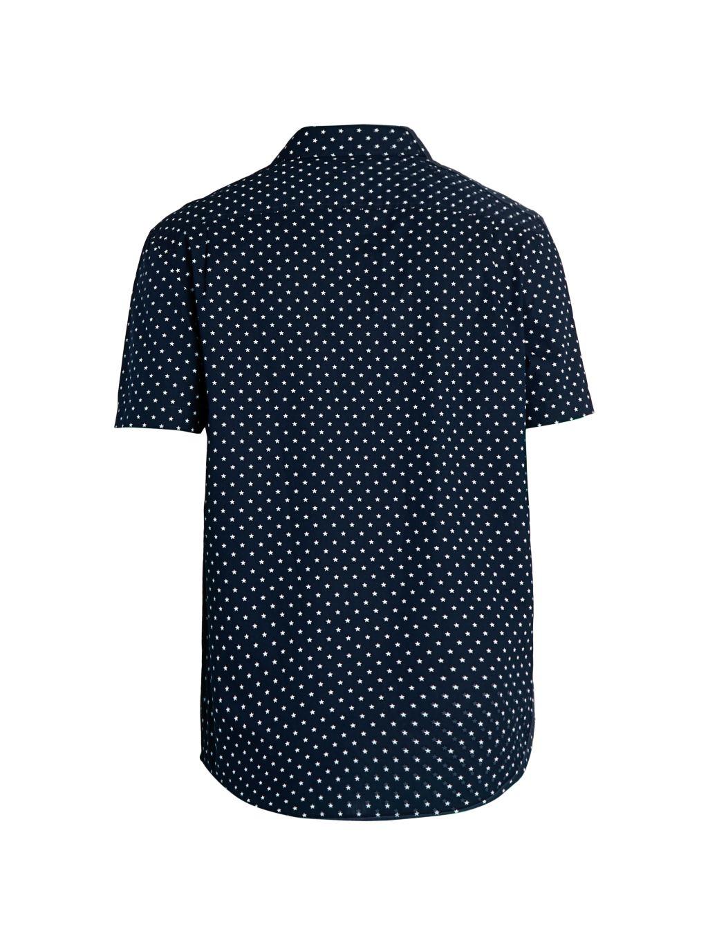 Original Penguin Star-Print Short-Sleeve Shirt