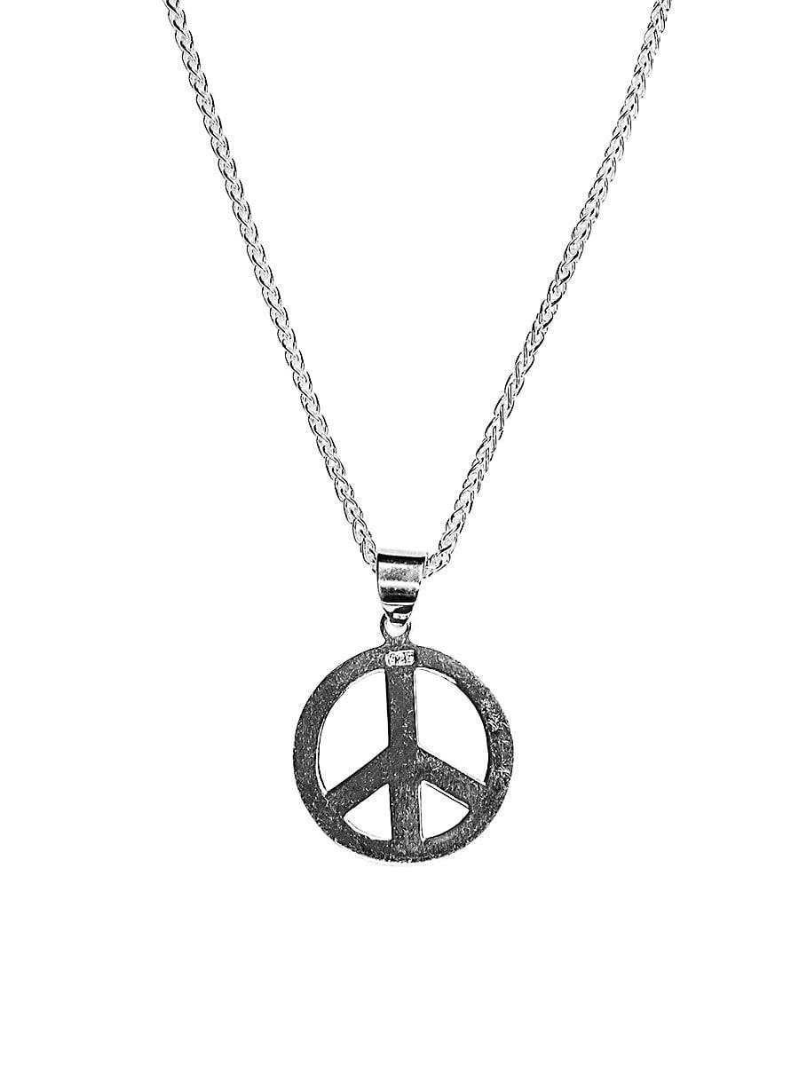 Men's Dell Arte Peace Sterling Silver Pendant Necklace