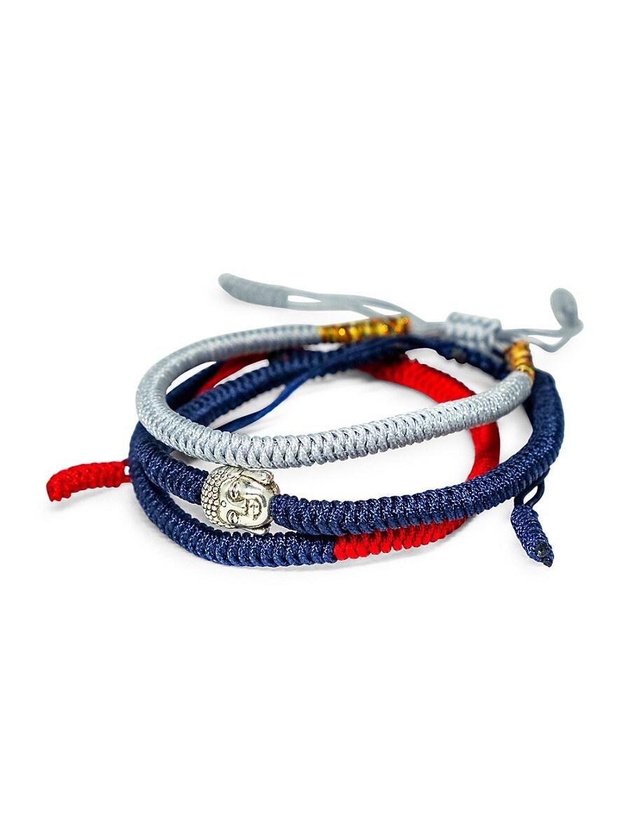 Men's Tibetan Buddha Hand-Made Triple Bracelet Set