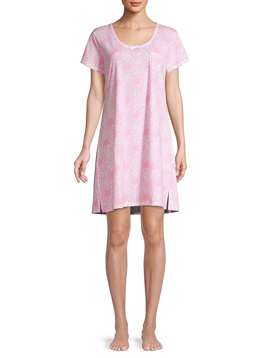Carole Hochman Women's Floral Sleepshirt - Floral - Size XL