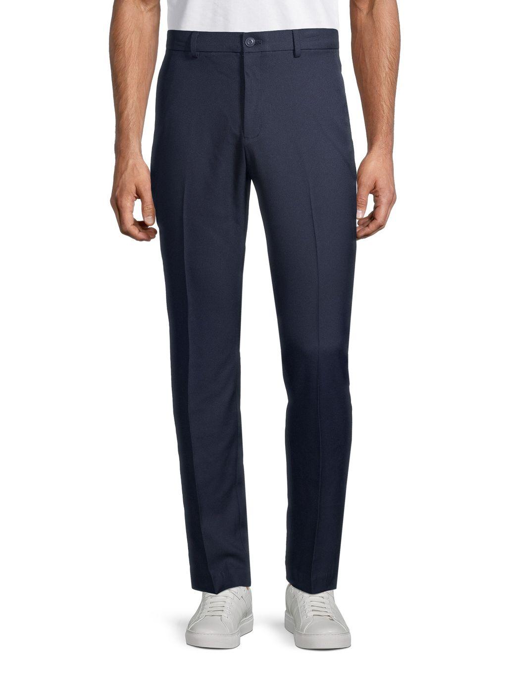 Saks Fifth Avenue Flat-Front Golf Pants