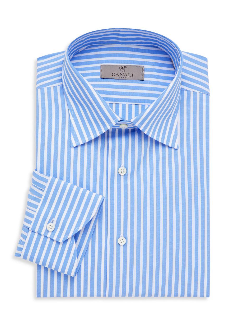 Canali Modern-Fit Striped Dress Shirt