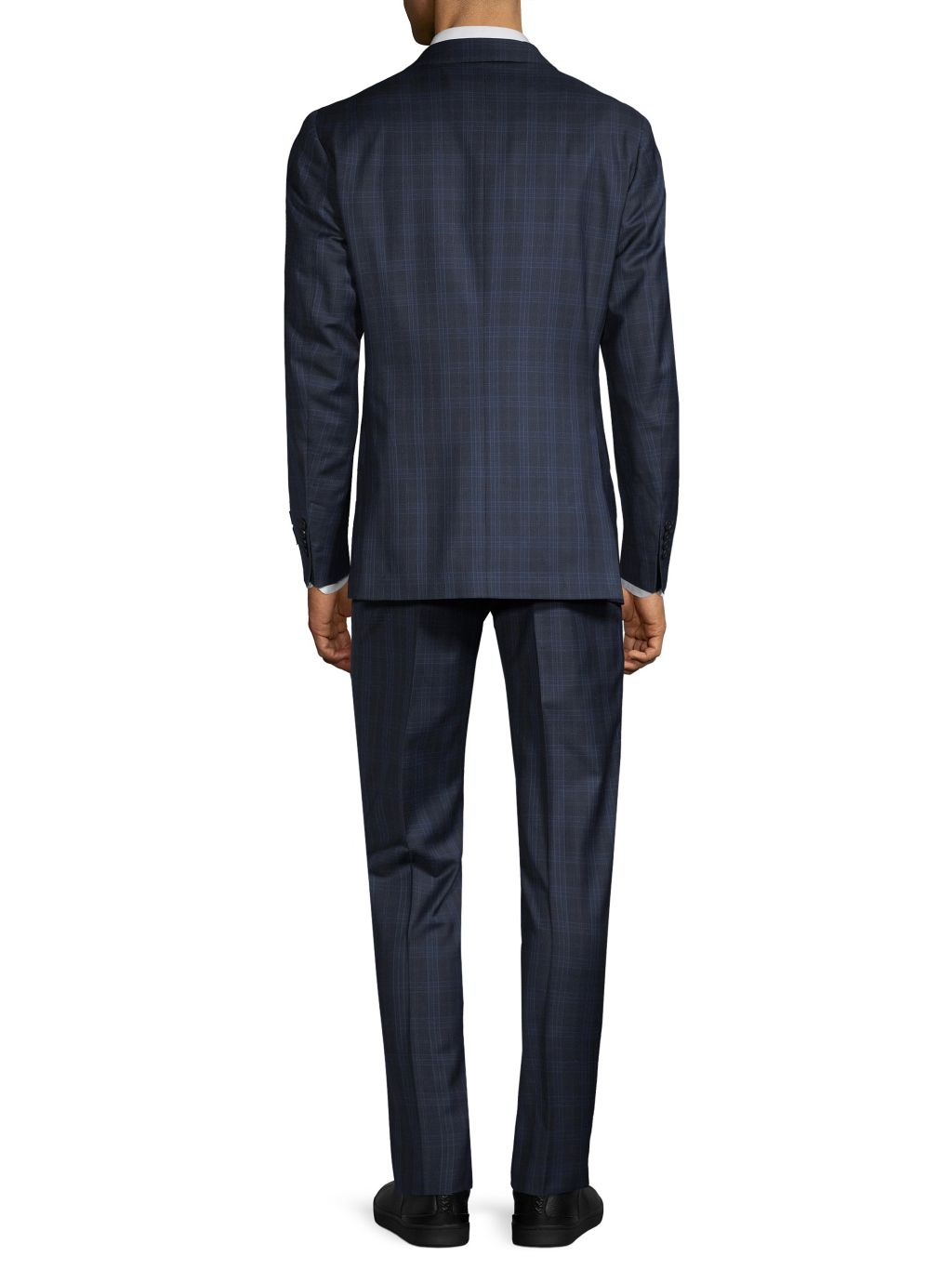 Saks Fifth Avenue Made in Italy Modern-Fit Wool Plaid Suit