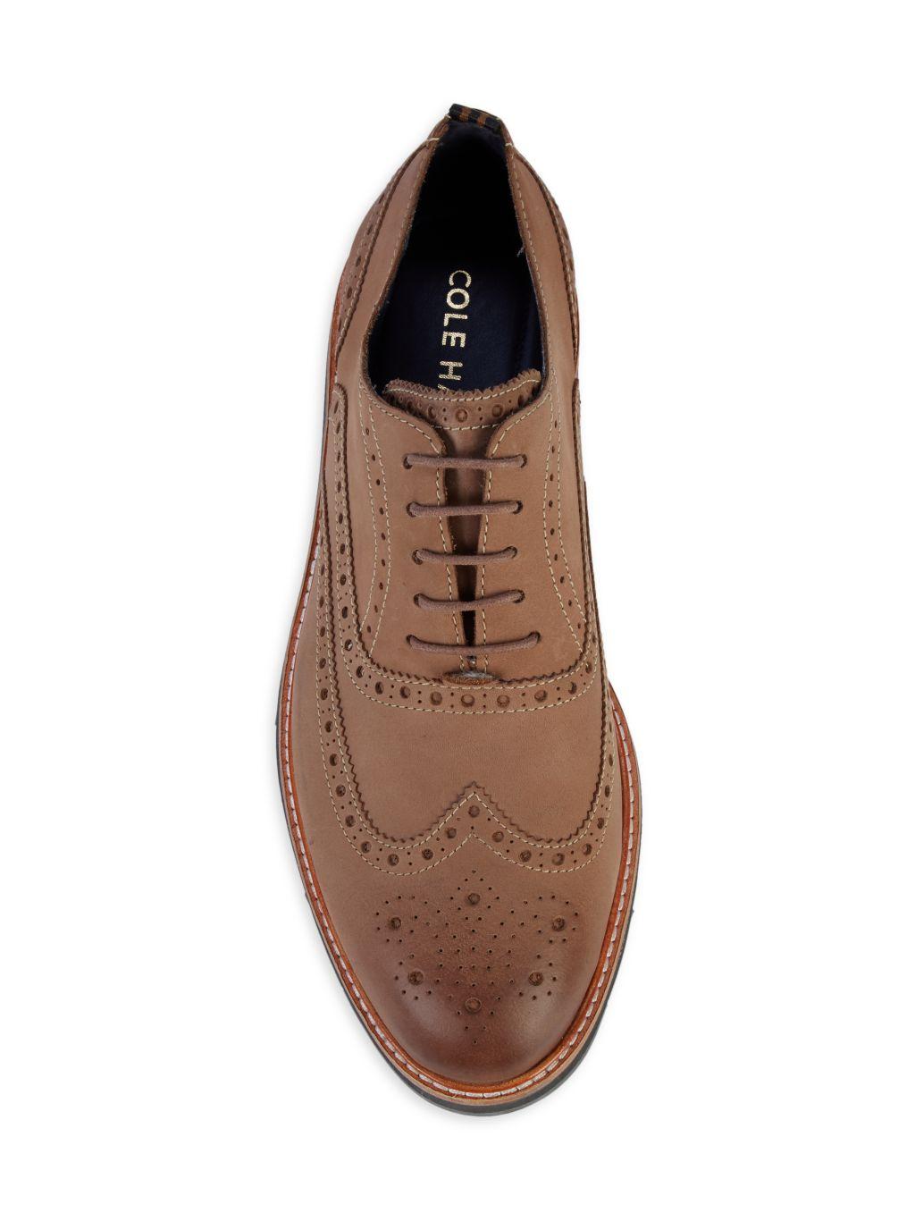 Cole Haan Morris Suede Wingtip Oxford Loafers