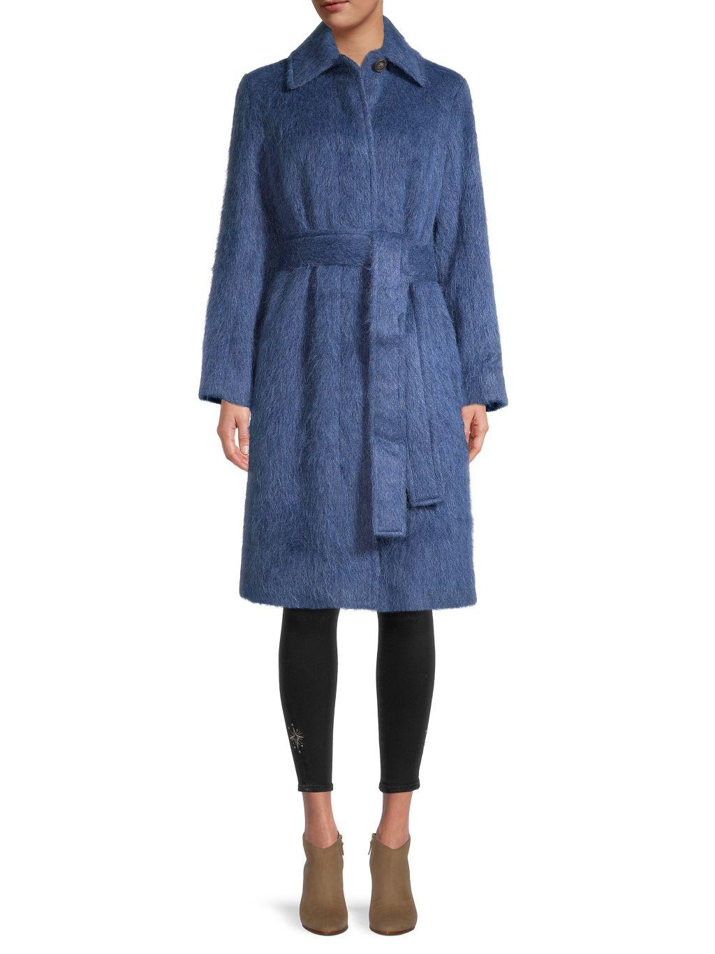 Vince Belted Wool, Alpaca Wool & Mohair Coat