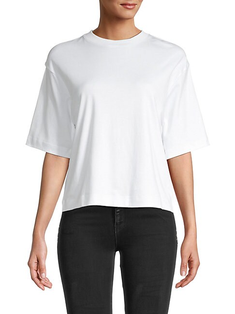 Vince WIDE-SLEEVE CROP T-SHIRT