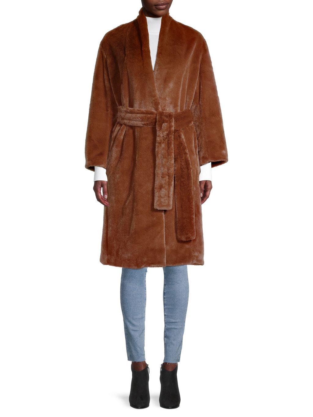 Vince Faux Fur Long Coat