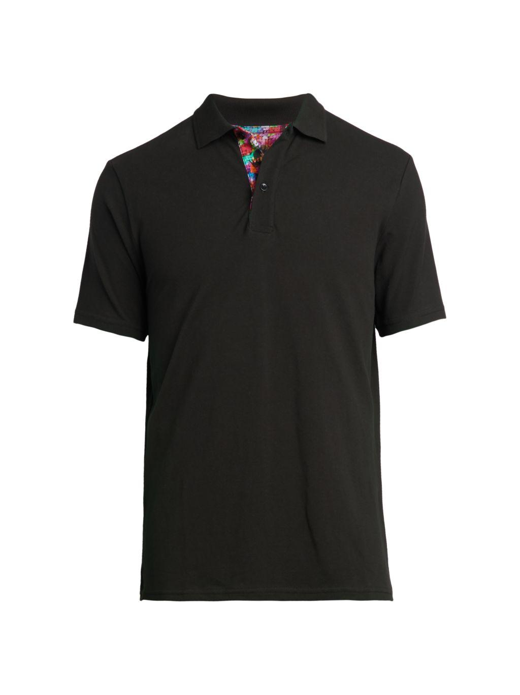 Bertigo Cuts Contrast-Collar Polo