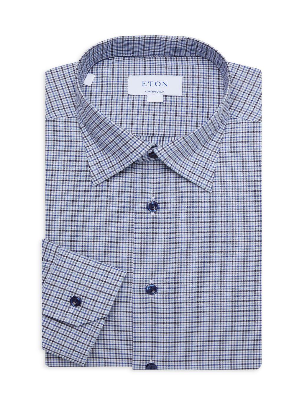 Eton Tattersall Contemporary-Fit Dress Shirt