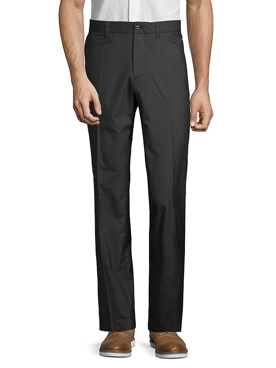J. Lindeberg Men's Flat-Front Straight Pants