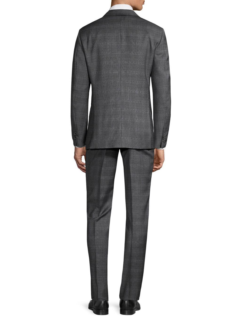 John Varvatos Star U.S.A. Standard-Fit Plaid Wool Suit