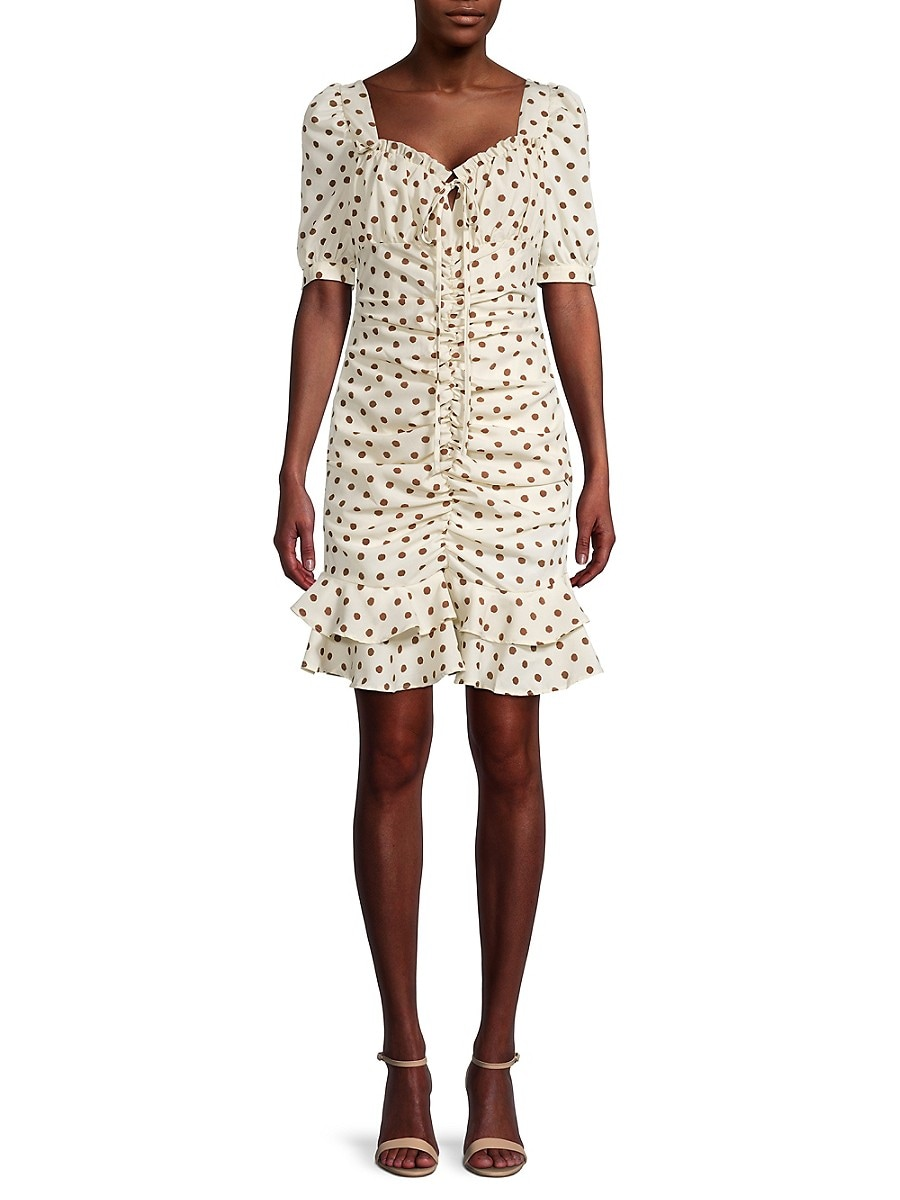 Women's Beatrice Ruched Dotted Dress