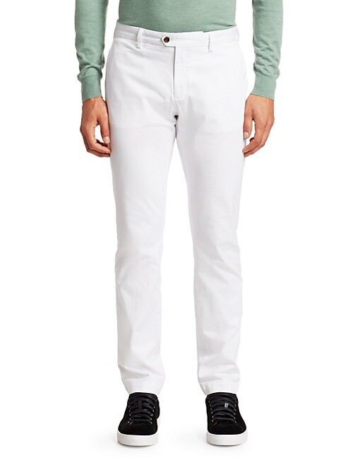 Saks Fifth Avenue Men's Collection Five-pocket Pants In White