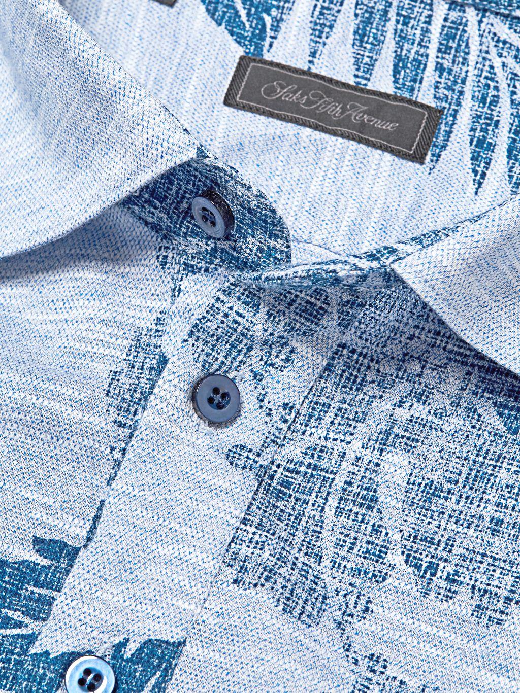 Saks Fifth Avenue COLLECTION Printed Cotton Polo