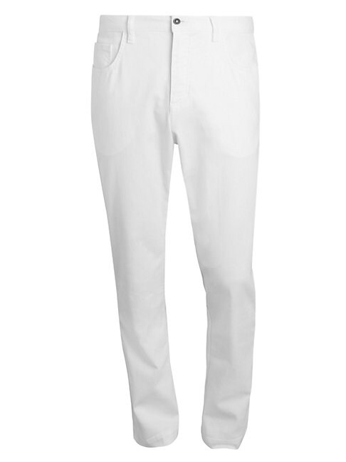 Saks Fifth Avenue Men's Collection Straight-leg Trousers In White