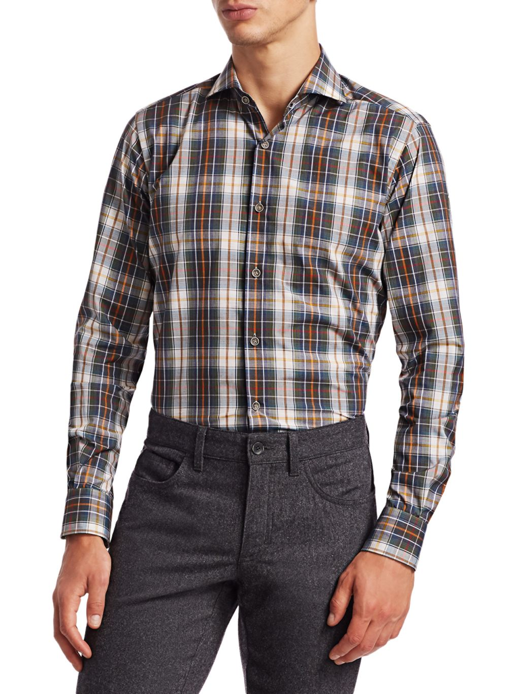 Saks Fifth Avenue COLLECTION Plaid Shirt