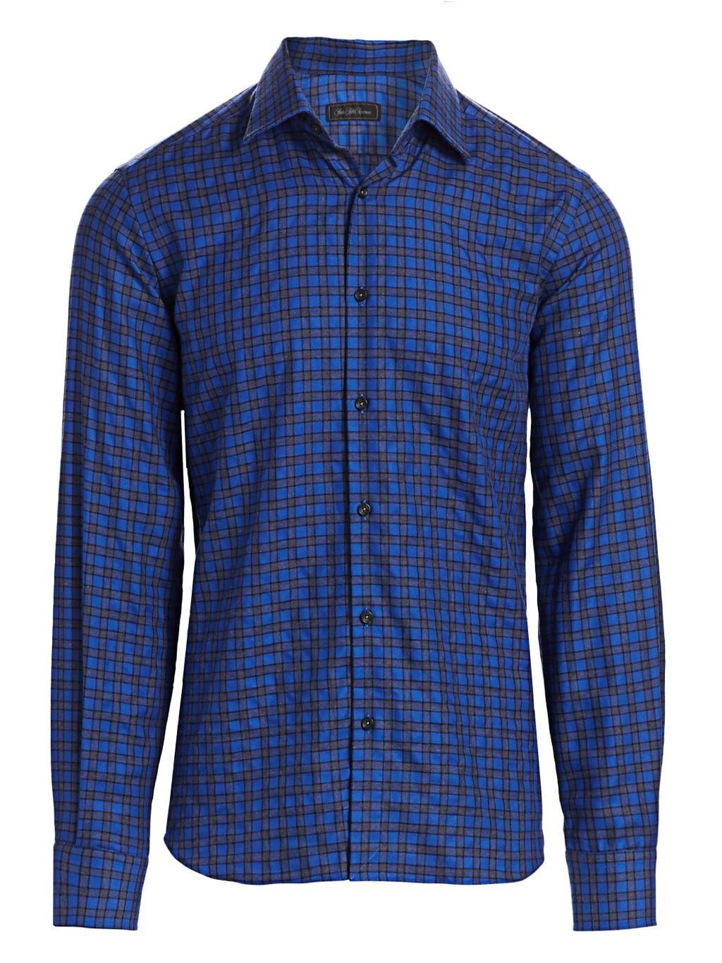 Saks Fifth Avenue COLLECTION Mini Check Print Shirt