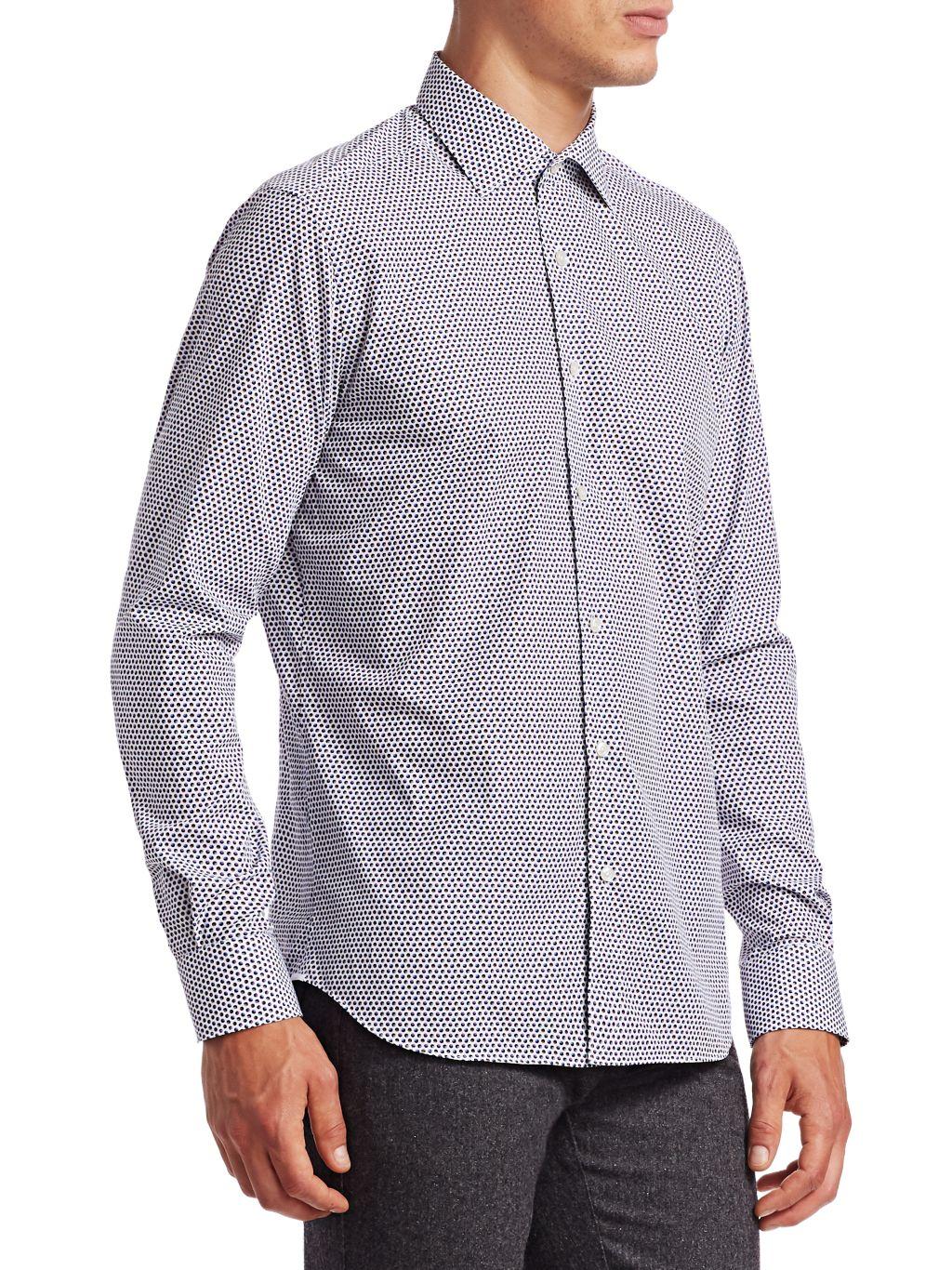 Saks Fifth Avenue Circle-Print Cotton Shirt