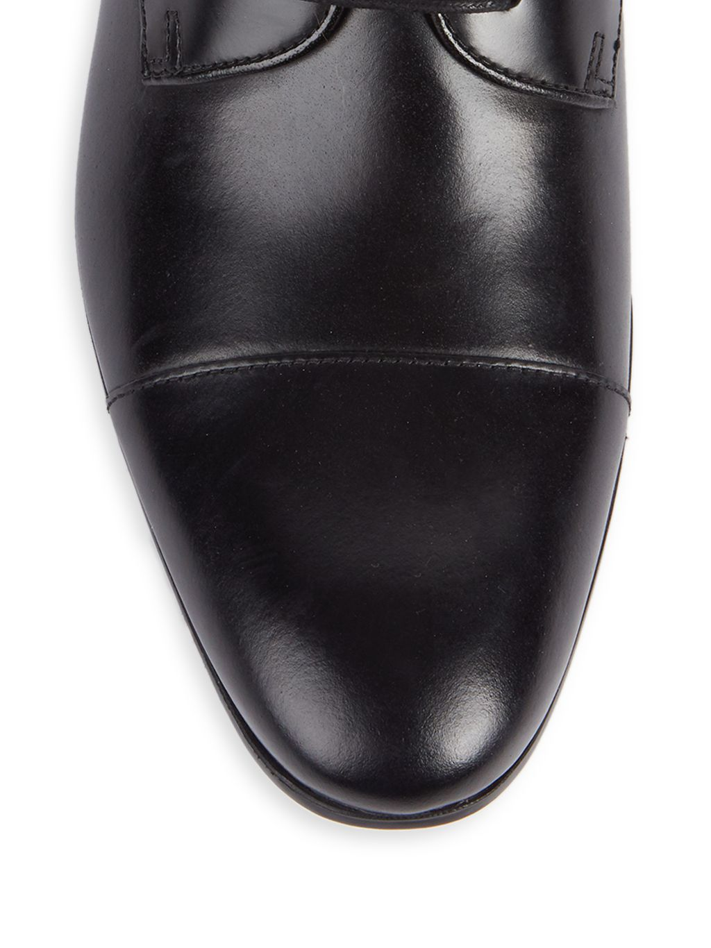 Kenneth Cole Leather Cap-Toe Derby Shoes