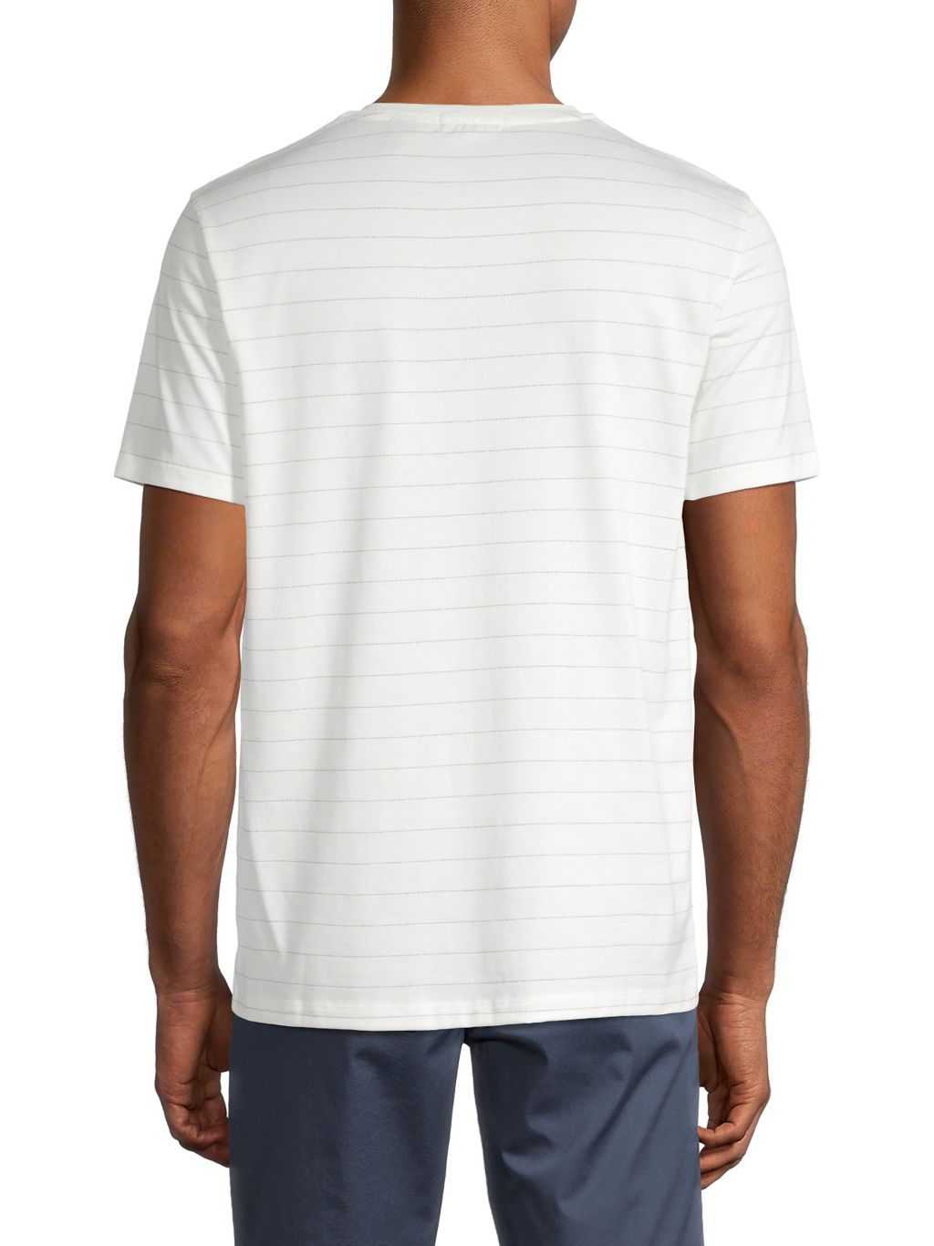 Theory Pixel Stripe Cotton T-Shirt