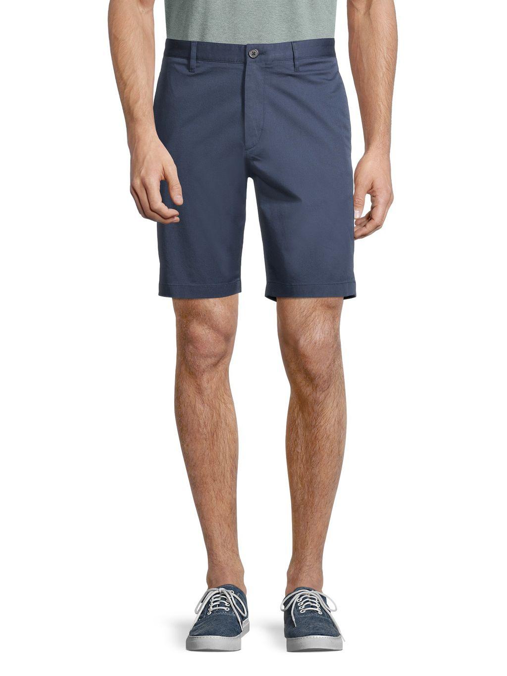 Theory Zaine Flat-Front Chino Shorts