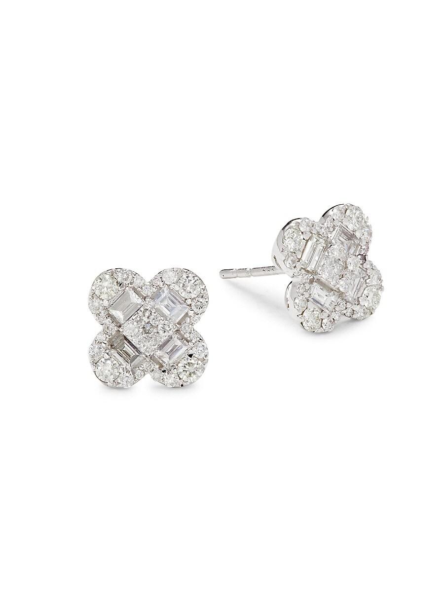 Women's 14K White Gold & 1.30 TCW Diamond Stud Earrings