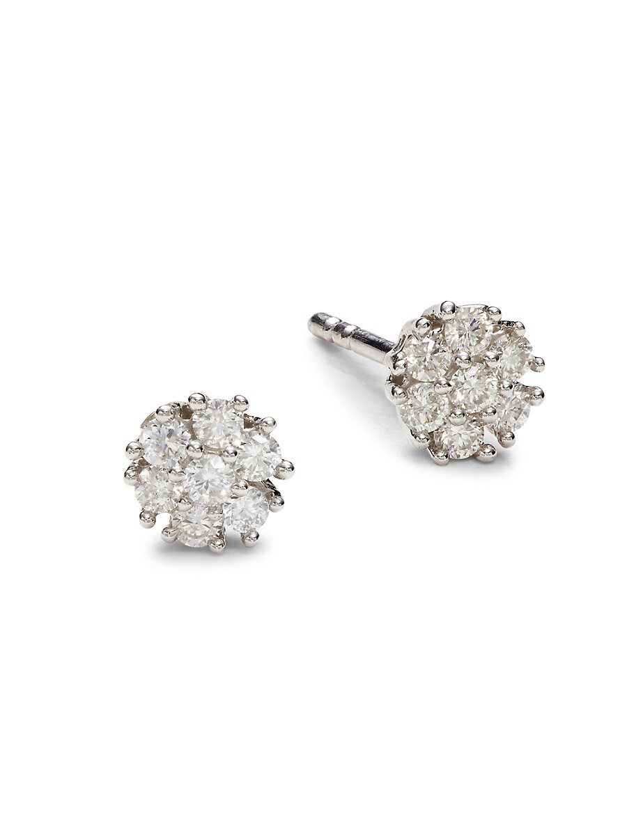Women's 14K White Gold & 0.25 TCW Diamond Stud Earrings
