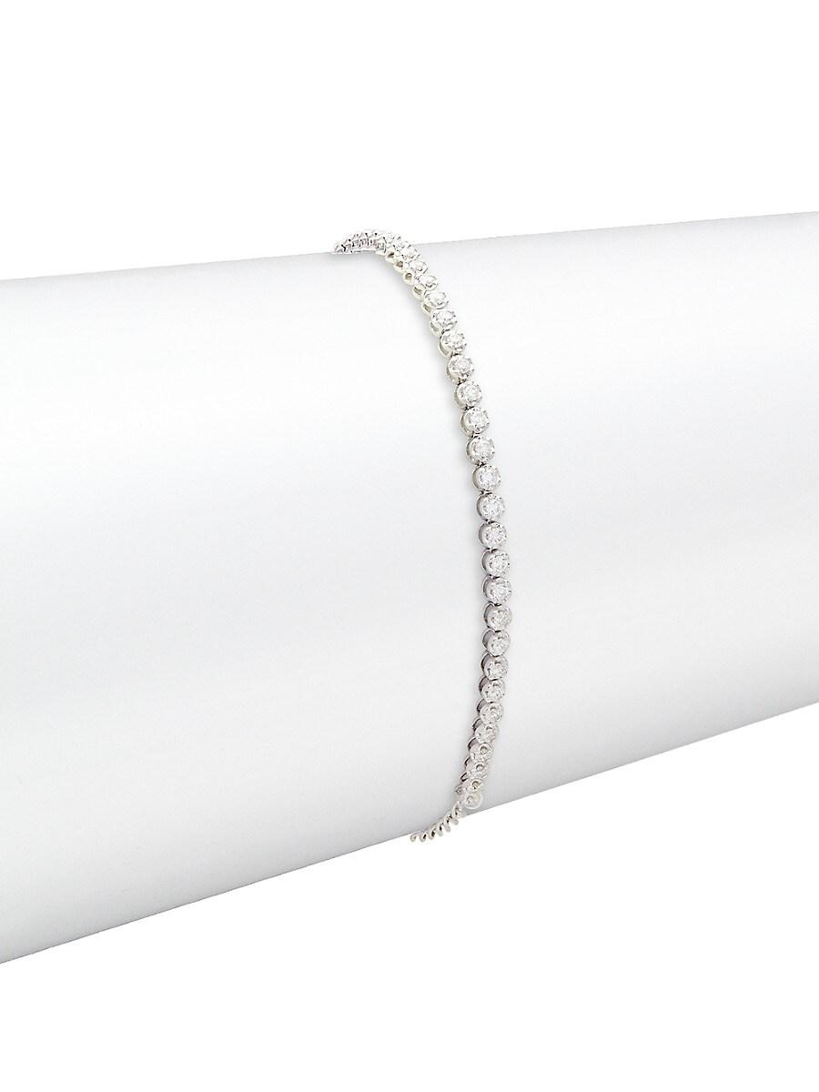Women's 14K White Gold & 0.50 TCW Diamond Bracelet