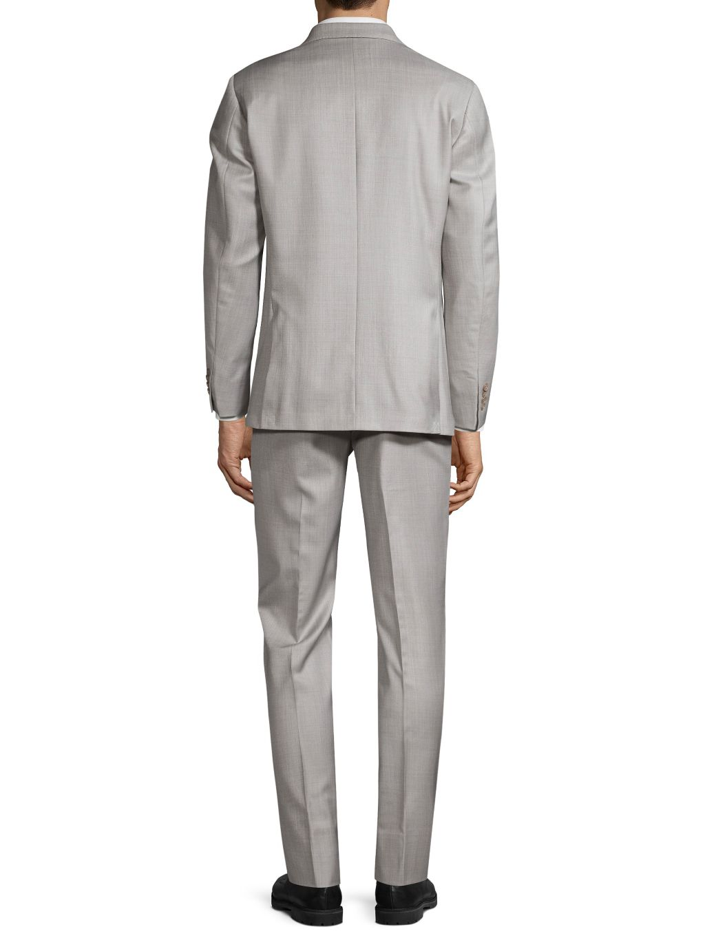 Michael Kors Collection Zignone Standard-Fit Check Wool Suit