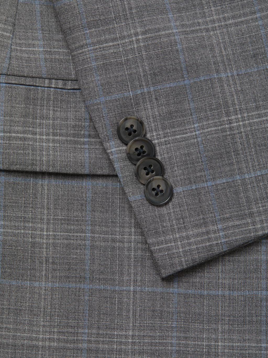 Michael Kors Collection Reda Standard-Fit Plaid Wool Suit