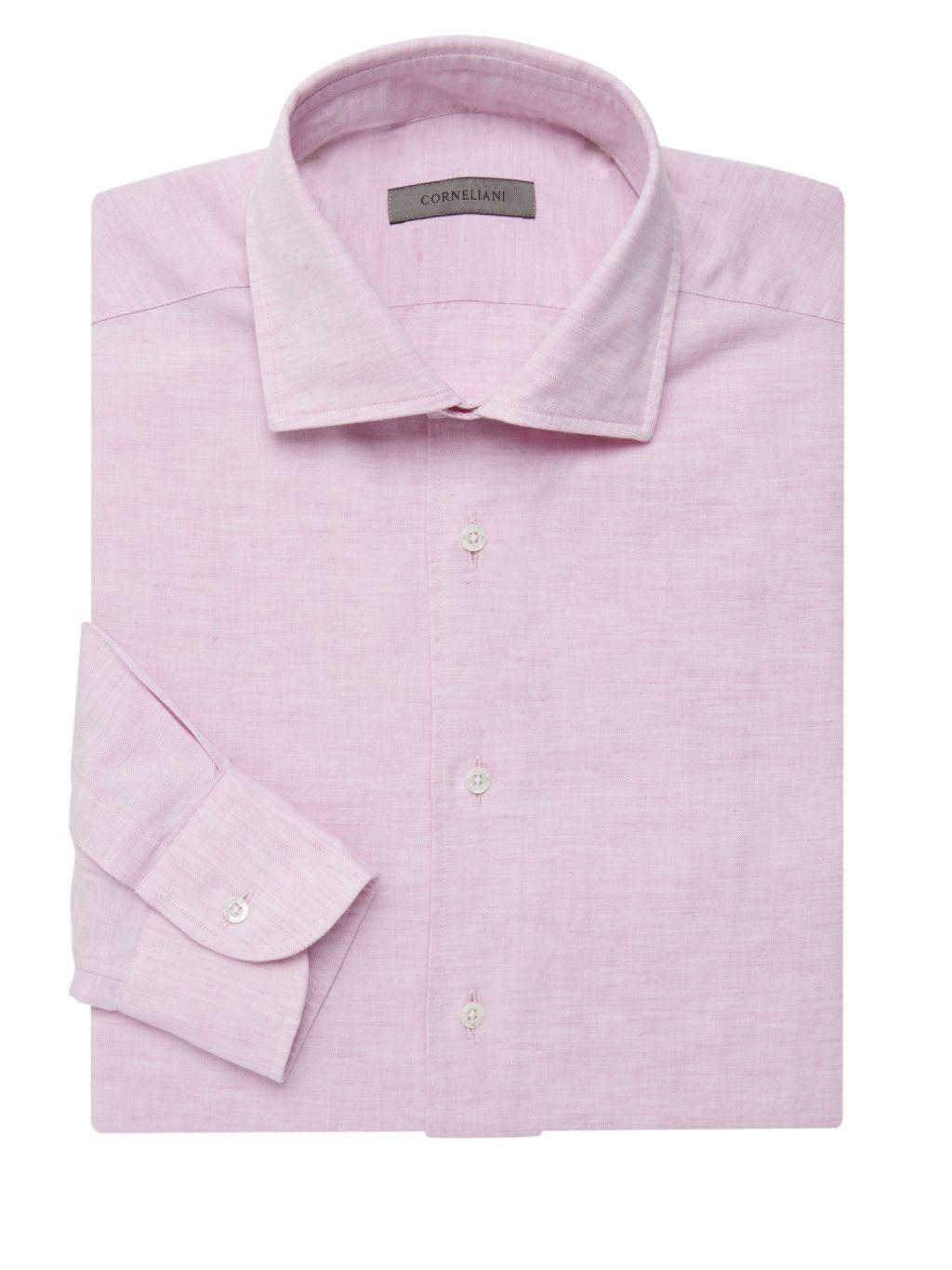 Corneliani Cotton & Linen Dress Shirt